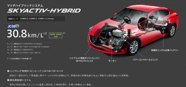 Mazda 3 Skyactiv-hybrid