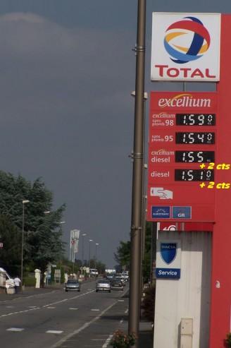 état français - augmentation de la taxe sur le gazole