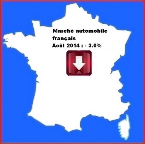 CCFA aout 2014.marché automobile français