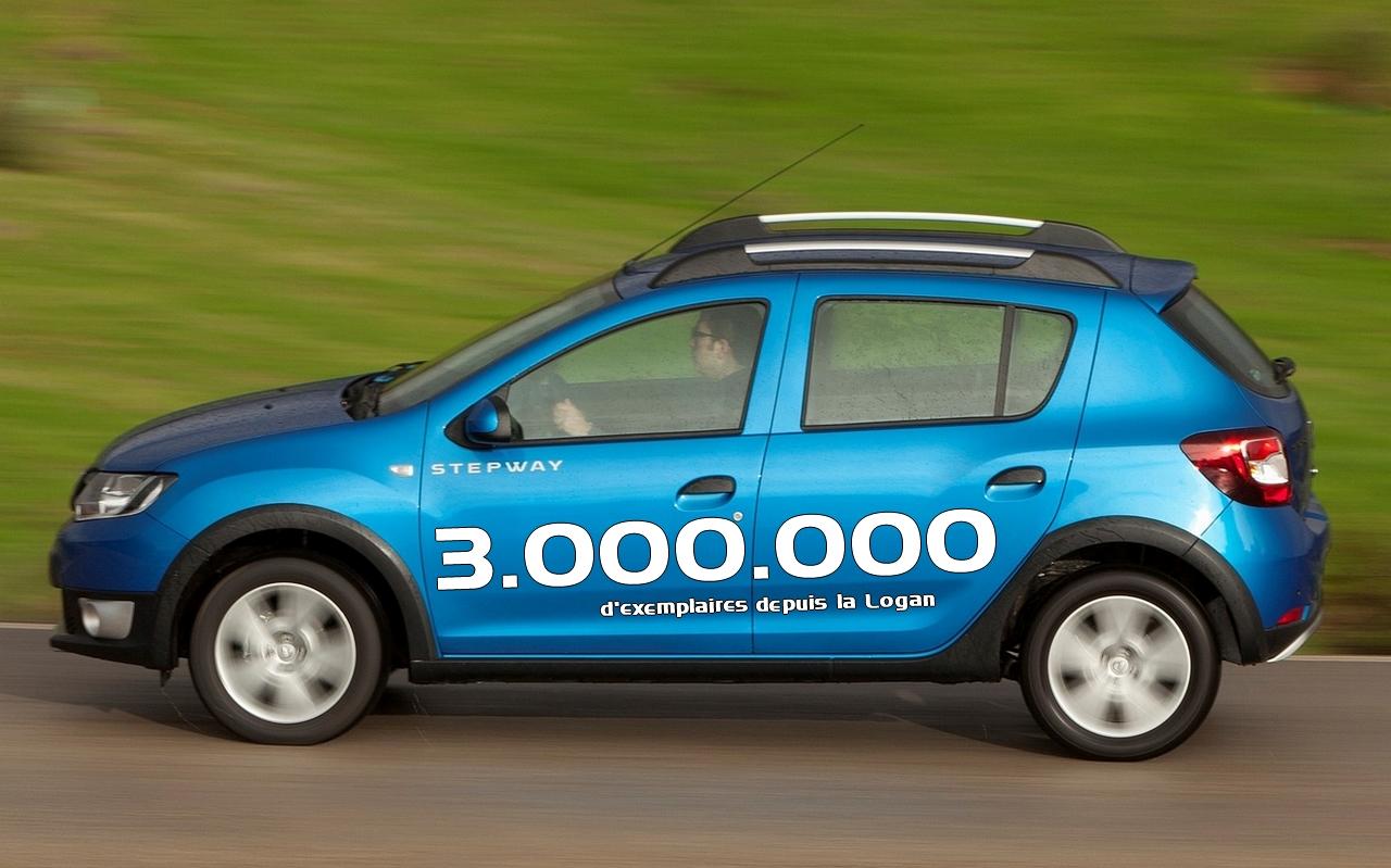 Dacia - trois millions d'exemplaires depuis la Logan