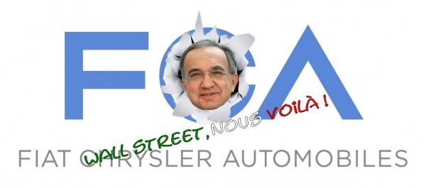 FCA entre en bourse  à New York ce lundi 13 octobre 2014