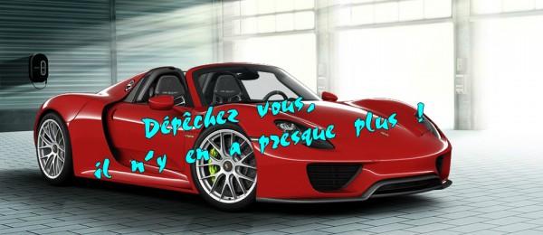 Porsche 918 Spyder -c'est la fin