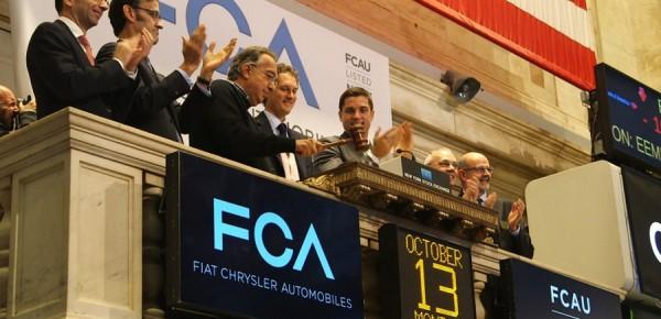 Sergio Marchionne sonne la cloche de la clôture à Wall Street le 13-10-2014