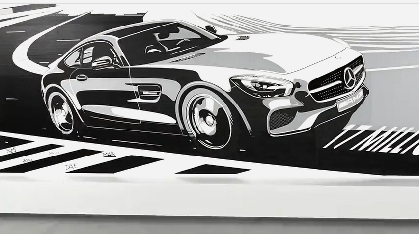 Mercedes Benz - un coupé AMG GT pour fêter 17 millions de fans sur FB