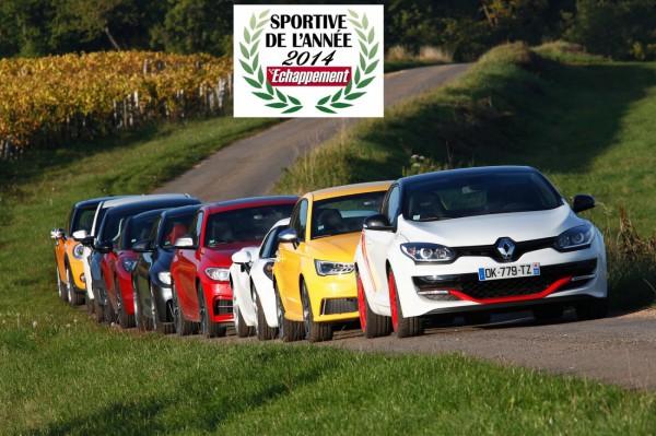 Renault Mégane Trophy R.S. 275 Trophy-R élue sportive de l'année 2014 par le magazine Echappement