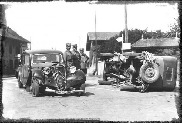 accident de voiture en suisse dans les années 30
