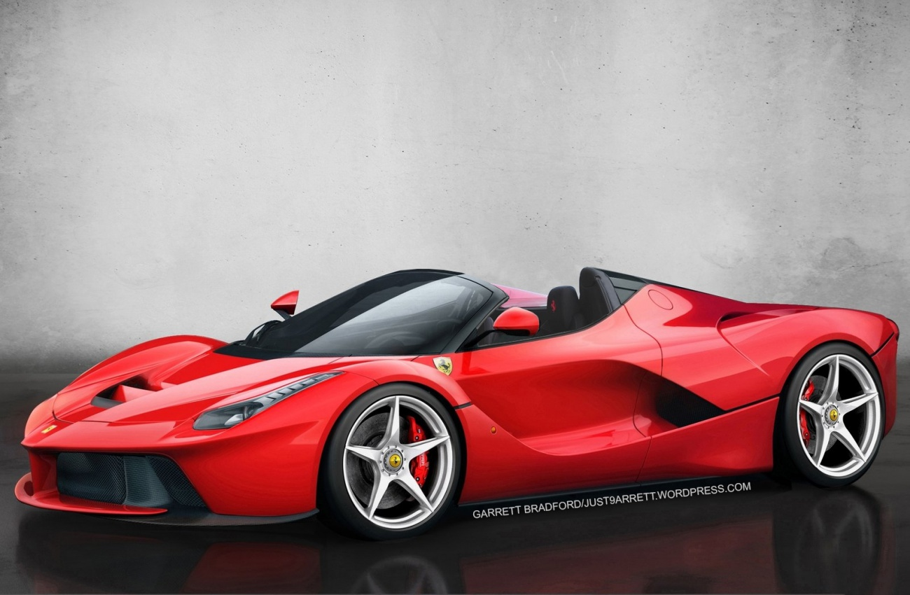 ferrari laferrari roadster by Garrett Bradford via Just9arrett