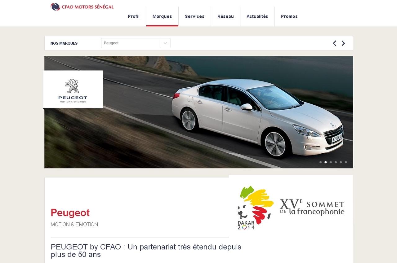 Peugeot CFAO fournisseur officiel du sommet sur la francophonie