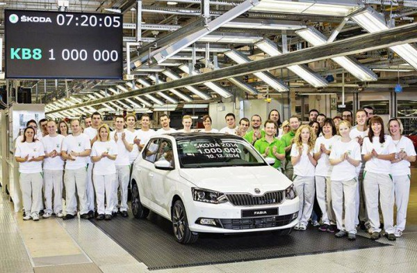 Skoda  1 million d'unité en 2014 le 10-12-2014