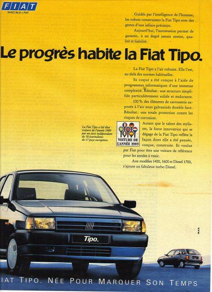 Fiat Tipo : voiture de l'année 1989