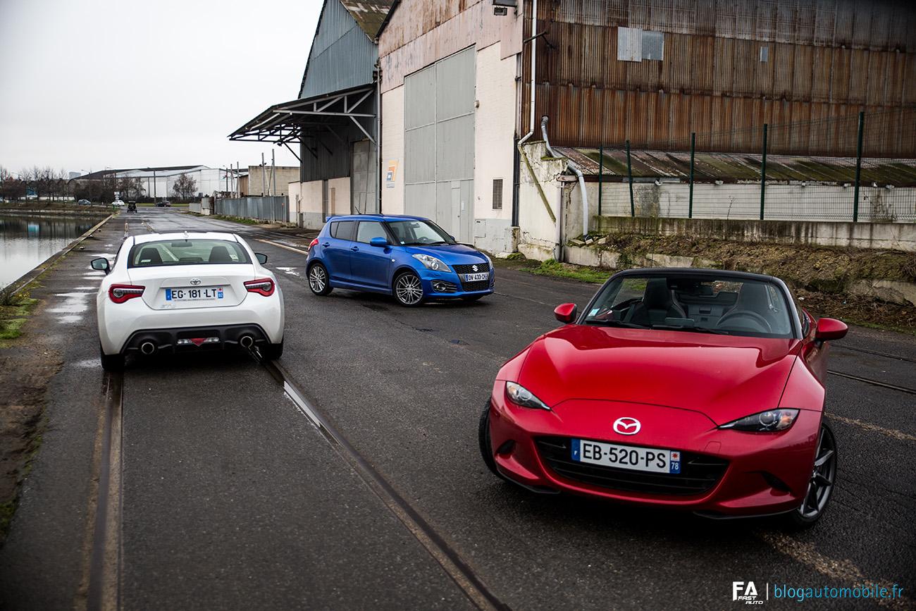 Essai Sportives Japonaises Mazda Toyota Suzuki